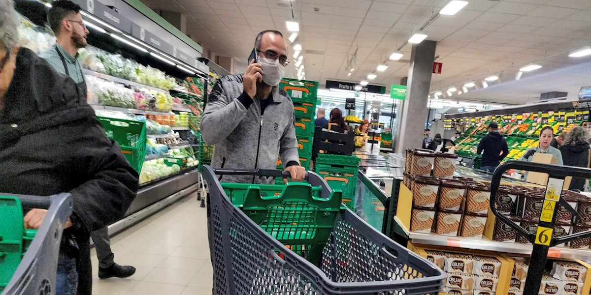 supermercados mascarilla