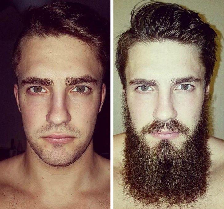 20 Fotos que muestran la transformación física de los hombres al dejar crecer su barba